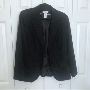 Worthington Stretch Blazer black w/white pinstripe